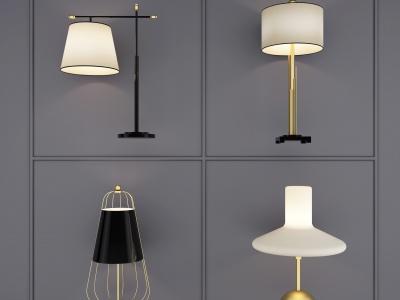 現代臺燈模型3d模型