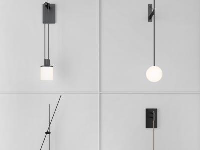現代極簡壁燈模型3d模型