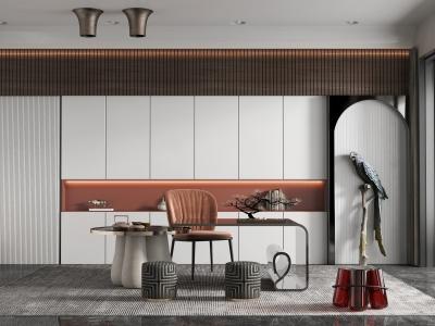 現代家居茶室模型3d模型
