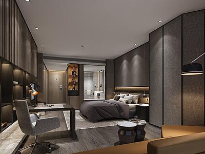 商業人士臥室模型3d模型