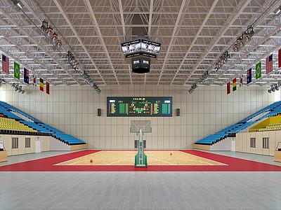 籃球館比賽場地模型3d模型