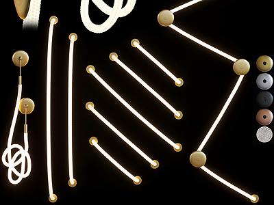 現代LED光線燈模型3d模型