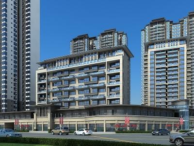 新中式商業街模型3d模型