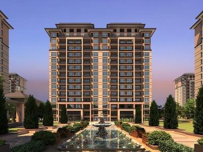 新古典商業街住宅模型3d模型
