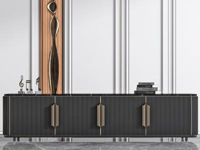 現代輕奢電視柜模型3d模型
