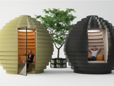 現代創意接待室模型3d模型