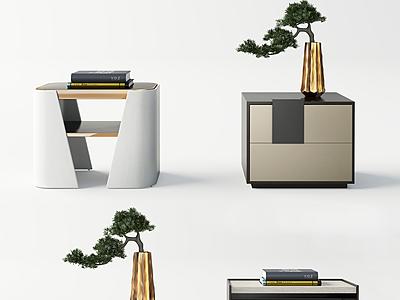 現代床頭柜模型3d模型