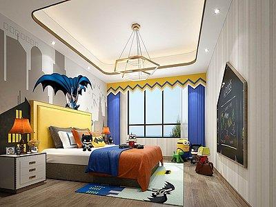 現代兒童房模型3d模型