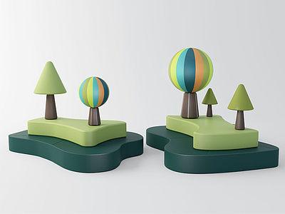 現代兒童娛樂區模型3d模型
