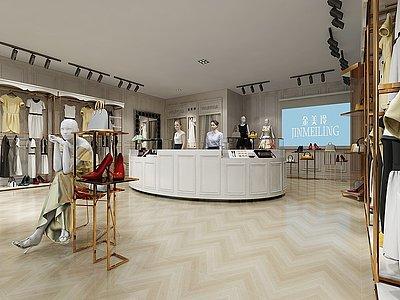 現代專賣店模型3d模型
