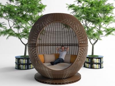 創意休閑區模型3d模型