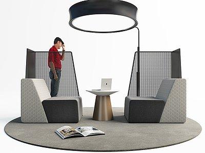 現代休閑桌椅模型3d模型
