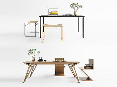 現代餐桌書桌模型3d模型