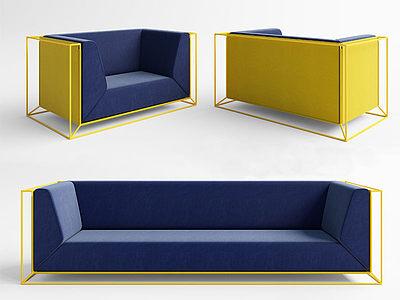 現代現代沙發模型3d模型