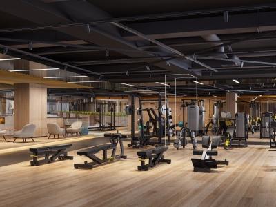 現代健身房模型3d模型