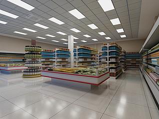 超市工装模型