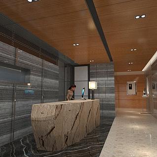 办公大厅整体模型