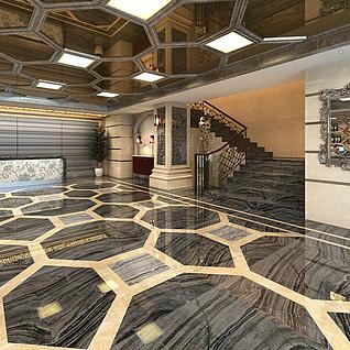 KTV走廊整体模型