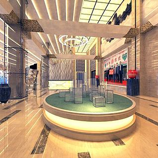 房地产大厅整体模型