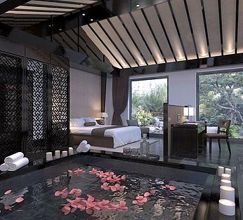 中式别墅卧室