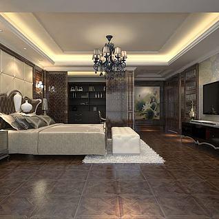 豪华卧室整体模型