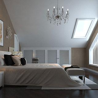 阁楼卧室整体模型
