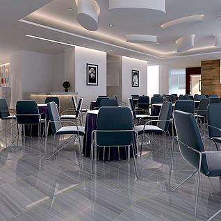 现代简约会议室整体模型