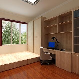 简单卧室整体模型