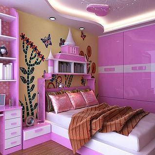 粉嫩系女儿房整体模型