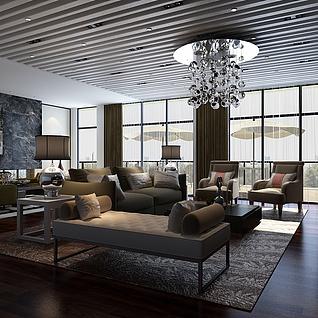 贵宾室整体模型