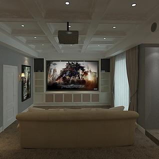 欧式影视厅整体模型