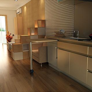 单人公寓整体模型