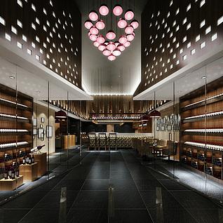 红酒展厅整体模型