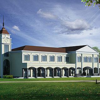现代建筑整体模型