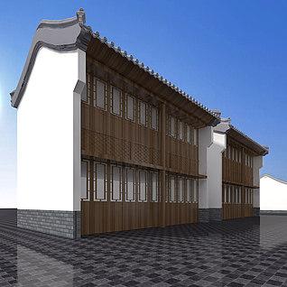 中式古建整体模型