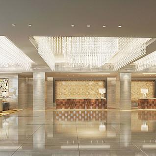 酒店大厅模型整体模型