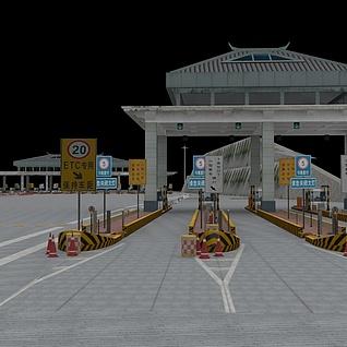 高速公路收费站整体模型