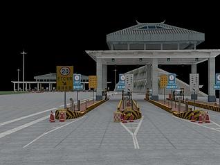 高速公路收费站工装模型