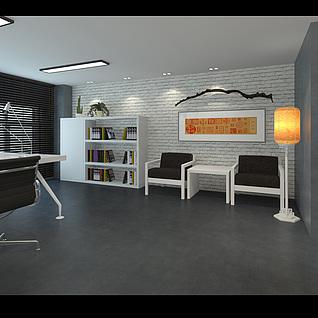 办公空间整体模型