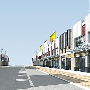 街道商铺整体模型