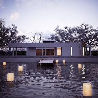 水边别墅整体模型
