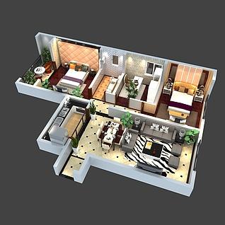家装户型图整体模型