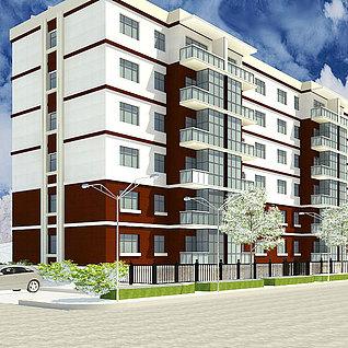 底层住宅整体模型整体模型