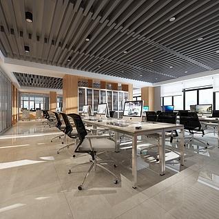 简约风格办公室整体模型