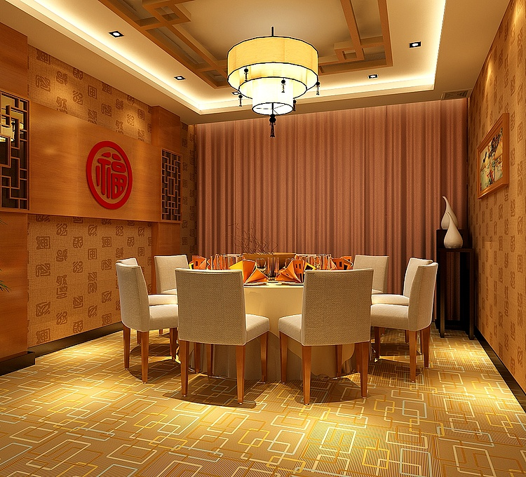 酒店餐厅模型