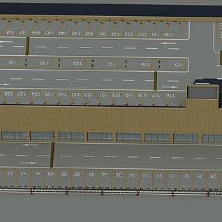 大型停车场整体模型