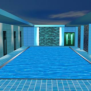 游泳池整体模型