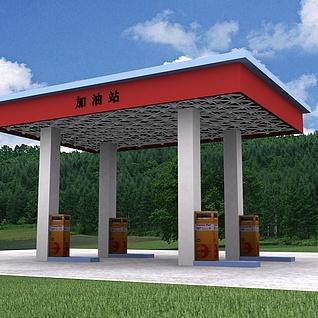 加油站整体模型