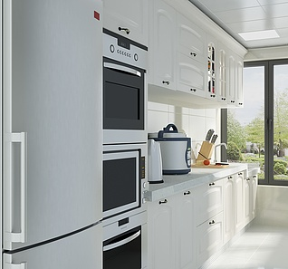 欧式厨房家装模型