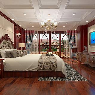 卧室整体模型整体模型